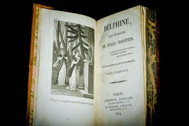 Germaine de Staël, Delphine, nouvelle édition avec frontispices gravés Paris, Ledentu / Nicolle, 1819, in-18°, 6 vol. Fondation Martin Bodmer
