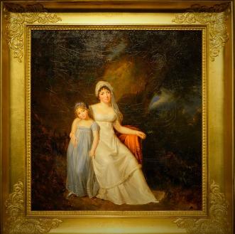 Élisabeth-Louise Vigée Le Brun Portrait de Germaine de Staël et sa fille Albertine Huile sur toile Coll. Château de Coppet